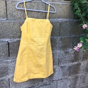 Yellow Jean Dress